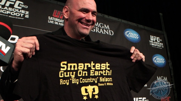 "DFW Quote ""Roy ""Big Country"" Nelson is the smartest man on earth."""